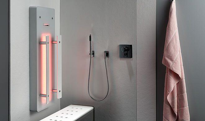 infrarotpaneel palma zum nachr sten f r die dusche. Black Bedroom Furniture Sets. Home Design Ideas