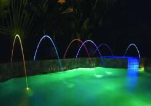 MagicStream - Wasserbögen mit LED-Lichtillumination