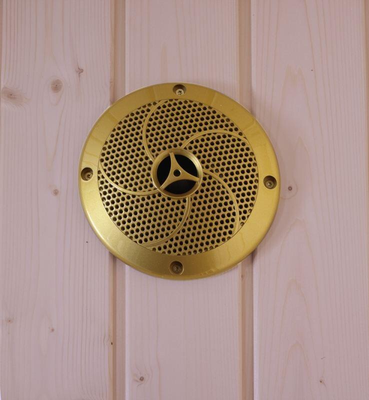 lautsprecher f r die sauna goldfarbig hitl gmbh. Black Bedroom Furniture Sets. Home Design Ideas