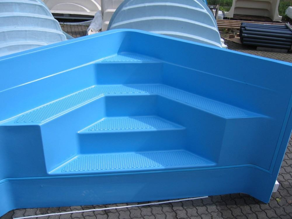 acryl ecktreppe 200 x 200 cm f r ihren pool hitl gmbh. Black Bedroom Furniture Sets. Home Design Ideas