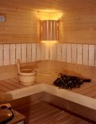 Sauna-Ecklampe
