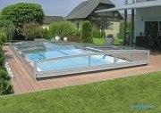 Polyfaser Schwimmbadüberdachung Opal