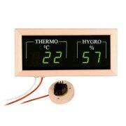 Das elektronische Sauna Hygro-Thermometer