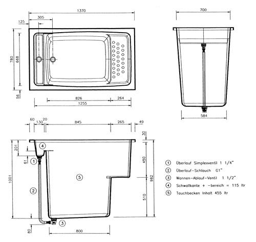 sauna einbau tauchbecken aus gfk kunststoff hitl gmbh. Black Bedroom Furniture Sets. Home Design Ideas