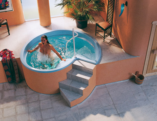 sauna tauchbecken rondo 125 aus polyester hitl gmbh. Black Bedroom Furniture Sets. Home Design Ideas