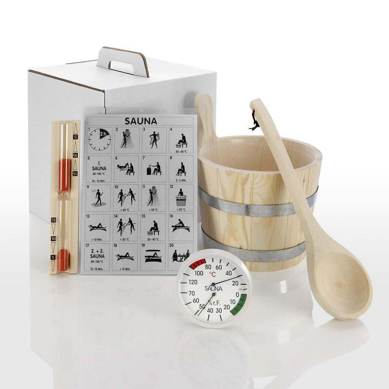 zubeh r set standard 5 teilig f r die sauna hitl gmbh. Black Bedroom Furniture Sets. Home Design Ideas