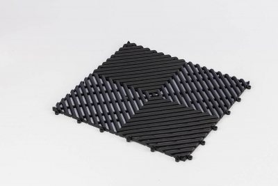 Bodenmatte für Sauna, Dampfbad und Schwimmbad 30,4x30,4 cm
