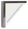 Rahmen Chrom, eckig 10 mm