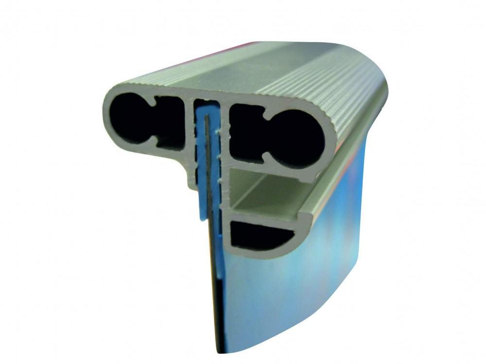 Rechteckbecken sport fp blaue innenh lle 0 8 mm mit for Pool rund teileinbau