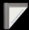 Rahmen Aluminium gebürstet 23 mm