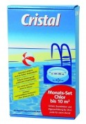 Cristal Monats-Set Chlor bis 10 m³,  0,63 kg