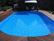 Ovalbecken Swim als ALL-IN-Schwimmbeckenset in der Höhe 150 cm