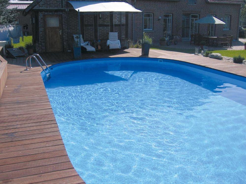 Ovalschwimmbecken swim von future pool innenh lle 0 8mm for Pool graue folie