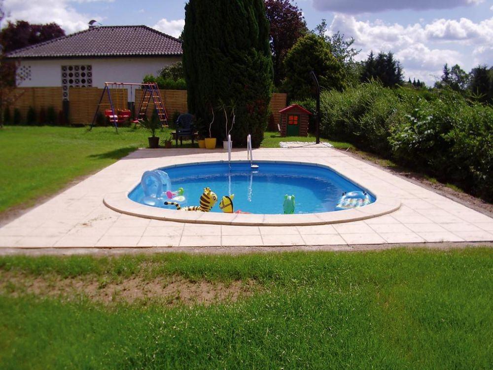 Ovalbecken swim von future pool als komplett set mit for Swimmingpool mit stahlwand