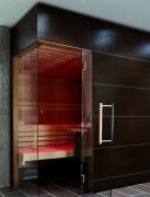 Elementsauna Excellent, Innenverkleidung Hemlock, Tiefe 162 cm