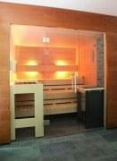 Elementsauna Excellent, Innenverkleidung Espe, Tiefe 186 cm