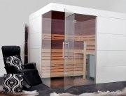 Elementsauna Excellent, Innenverkleidung Espe, Tiefe 178 cm
