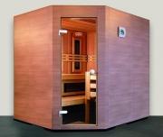 Eingangsbereich der Sauna 45° abgeschrägt