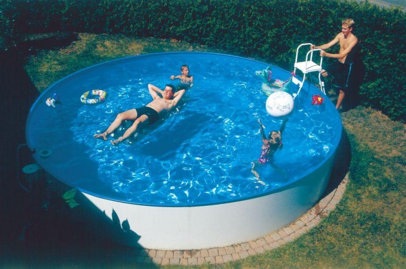 Kinderbecken minifun von future pool standardhandlauf for Aufbauanleitung pool stahlwand