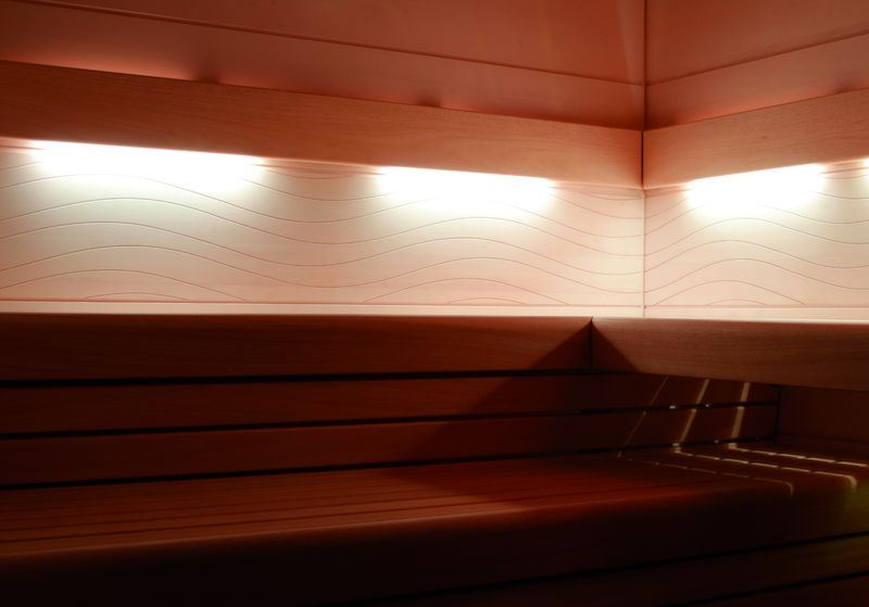 farbige r ckenlehnenbeleuchtung f r arend saunamodelle. Black Bedroom Furniture Sets. Home Design Ideas