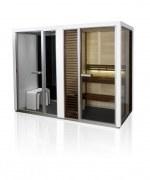 Sauna-Dampfduschkombination Impression Twin, die komplette Spa-Anlage