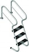 Treppenleiter mit  Sicherheitsstufen aus V2A