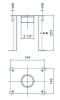 Maßzeichnung des Betoneinbauteil Druckseite