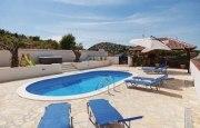 Ovalschwimmbecken SWIM mit eloxiertem Aluhandlauf, Folie blau