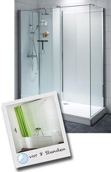 dusche auf wanne badewanne wird zur dusche hitl gmbh. Black Bedroom Furniture Sets. Home Design Ideas